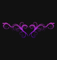 Heart flourish vector image