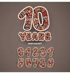 Anniversary numbers set vector image vector image