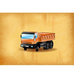 background with truck old vector image