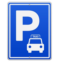Blue Parking Sign vector image vector image