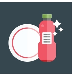 Bottle template tableware container vector