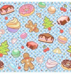 Dessert seamless pattern vector image vector image