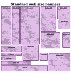 empty box standard size web banners blank set vector image vector image