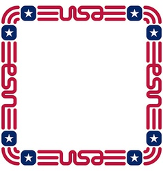 Frame with USA flag colors and symbols for vector image vector image