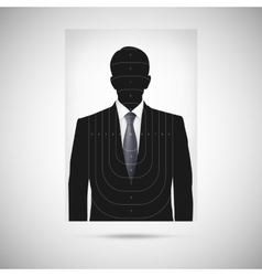 Human silhouette target unknown person vector
