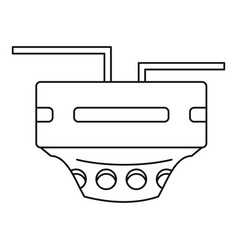 Monitor socket icon outline style vector