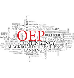 Oep word cloud concept vector