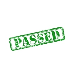 Passed rubber stamp vector