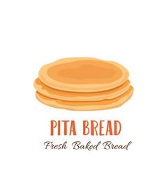 Pita bread icon vector