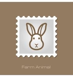 Rabbit stamp Animal head vector image vector image