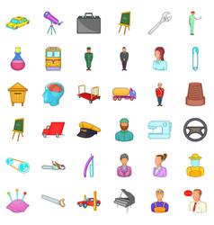 Recruiting icons set cartoon style vector