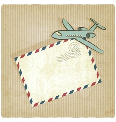 Retro background with plane vector