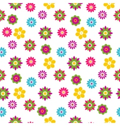 Seamless floral motley spring pattern vector image