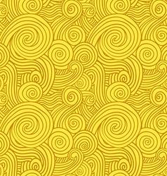 Seamless Yellow Swirls vector image vector image