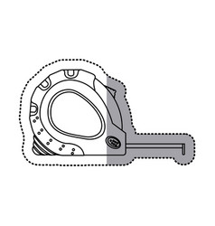 Sticker outline tape measure icon tool vector