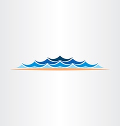 Summer water waves design symbol vector
