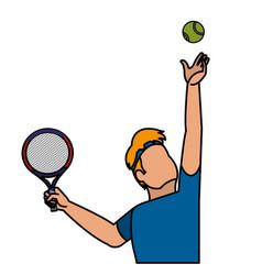 Tennis player design vector