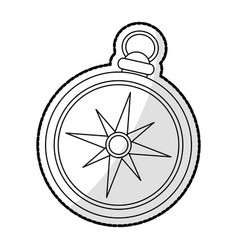 vintage compass icon image vector image