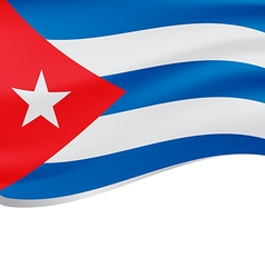 Waving flag of Cuba isolated on white vector image vector image