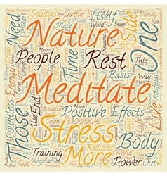 Why you need to meditate text background wordcloud vector