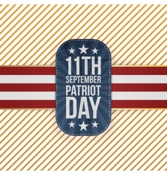 Patriot day 11th september national emblem vector