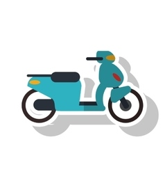Isolated motorcycle vehicle design vector