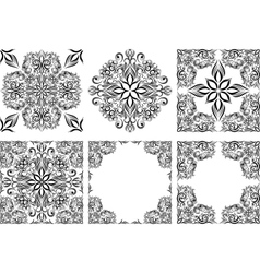 Set of seamless patterns and frames vector image
