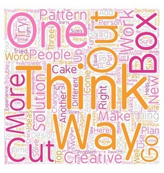 Jh learn to think outside the box text background vector