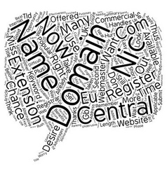Central nic domains text background wordcloud vector