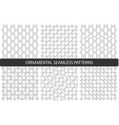 grid seamless patterns set vector image
