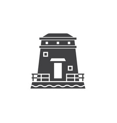 Coast observation tower icon vector
