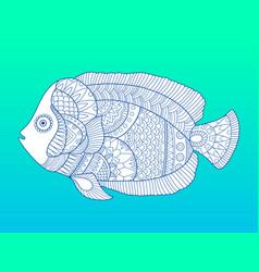 angel fish color fashion vector image