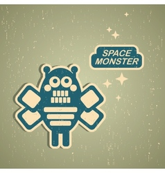 Vintage monster vector