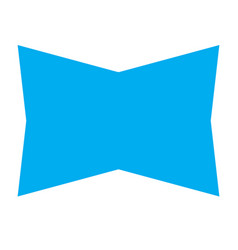 blue banner ribbon on white background blue vector image