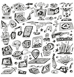 Technology devices science - icons vector