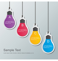 Paper bulbs vector