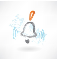 bell rings grunge icon vector image