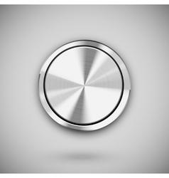 metal circle button vector image