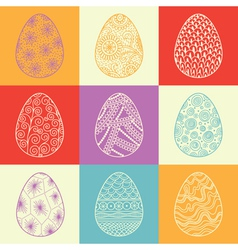 Background from decorative easter eggs vector