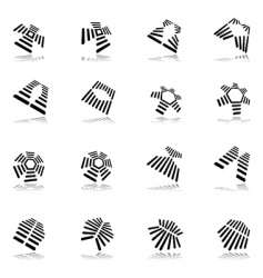 Abstract graphic icons vector