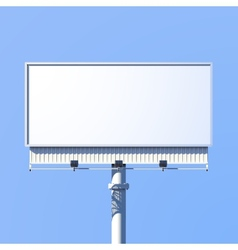 Outdoor billboard realistic vector