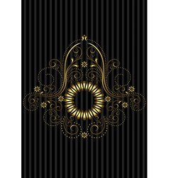 Vintage gold circular patterned frame vector