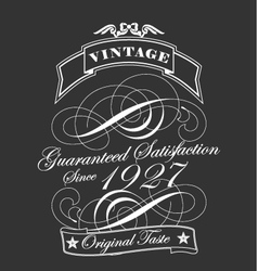 Decorative vintage label vector