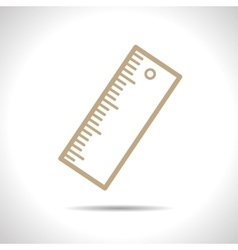 Ruler outline icon eps10 vector