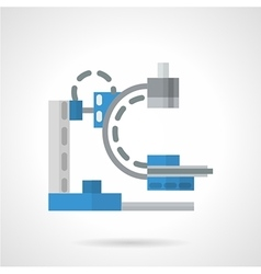 Diagnostic machine flat icon vector