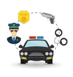 Police icon design vector