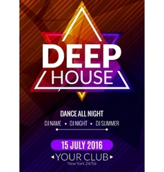 Club electronic deep house music poster musical vector