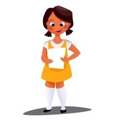 African American girl vector image