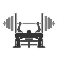Bench press icon vector