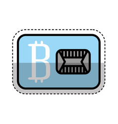Bitcoin commerce isolated icon vector